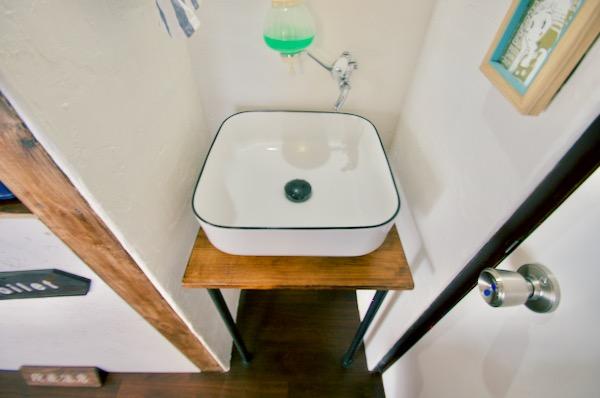 自作の手洗い台